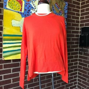 H&M Oversized Orange Sweater.